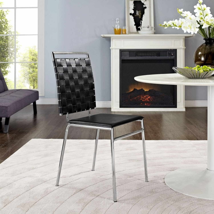 Fuse Dining Side Chair - Black