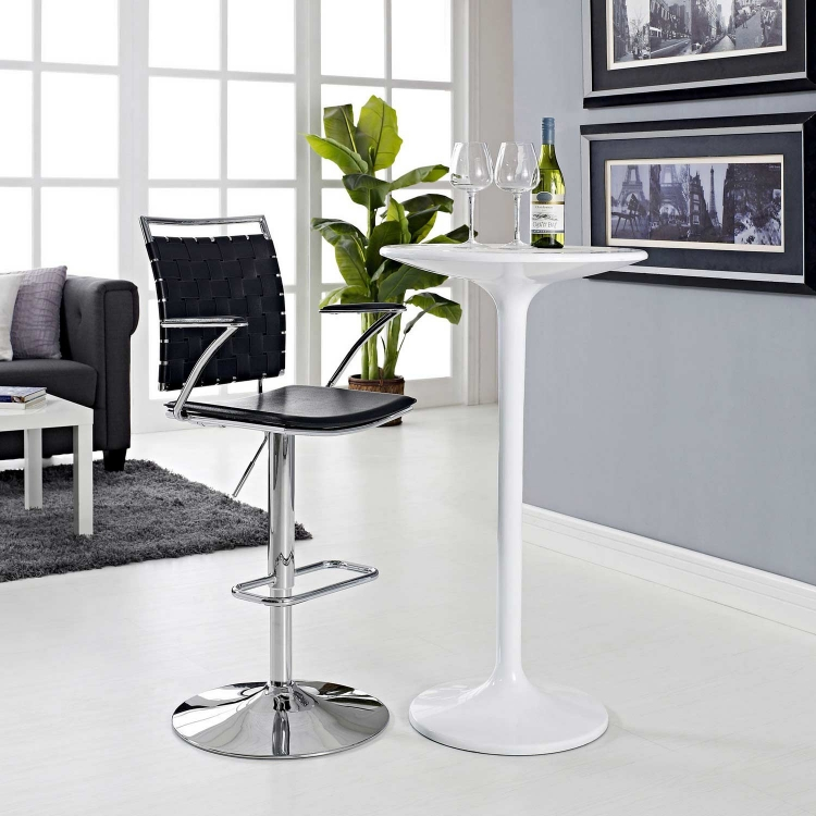 Fuse Adjustable Bar Stool - Black