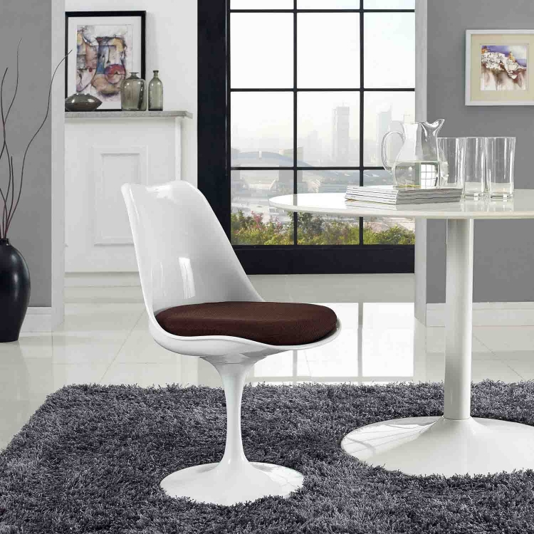 Lippa Dining Fabric Side Chair - Brown