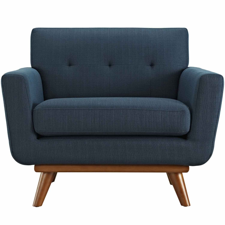 Engage Upholstered Armchair - Azure
