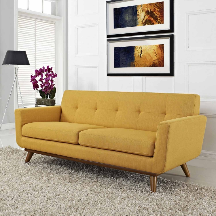 Engage Upholstered Loveseat - Citrus