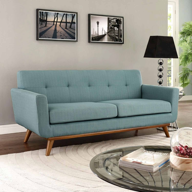 Engage Upholstered Loveseat - Laguna