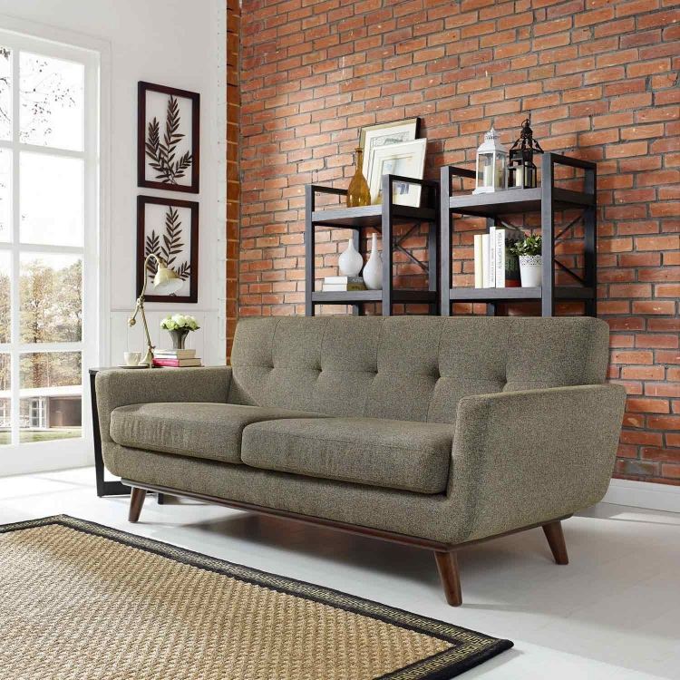Engage Upholstered Loveseat - Oatmeal