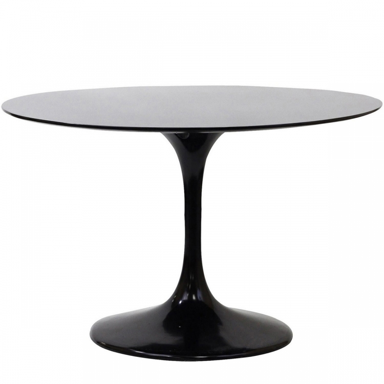 Lippa 40 Fiberglass Dining Table - Black
