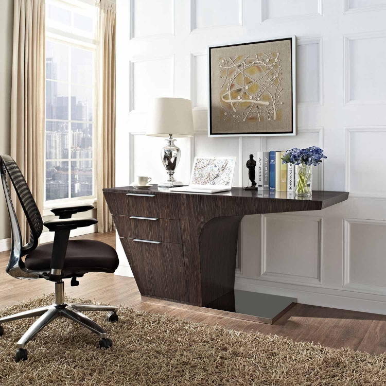 Warp Office Desk - Walnut
