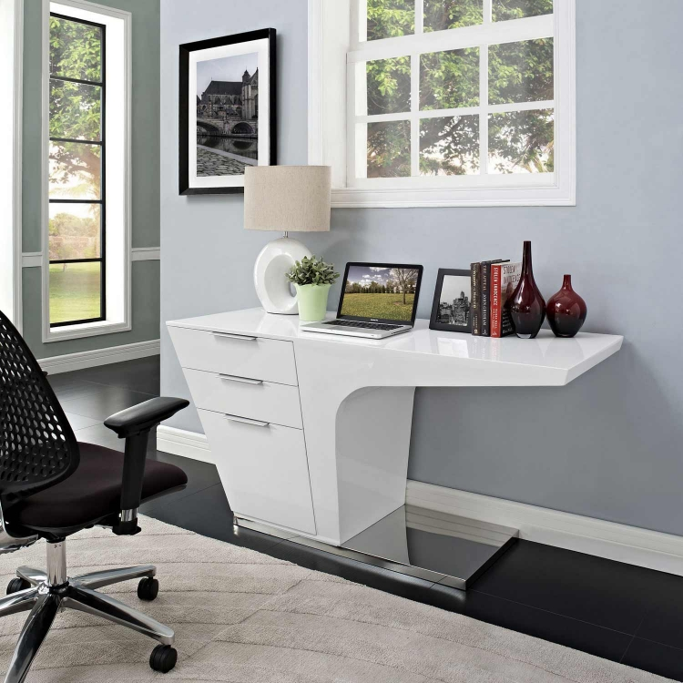 Warp Office Desk - White