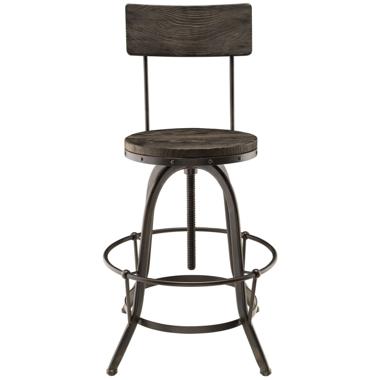 Procure Wood Bar Stool - Black