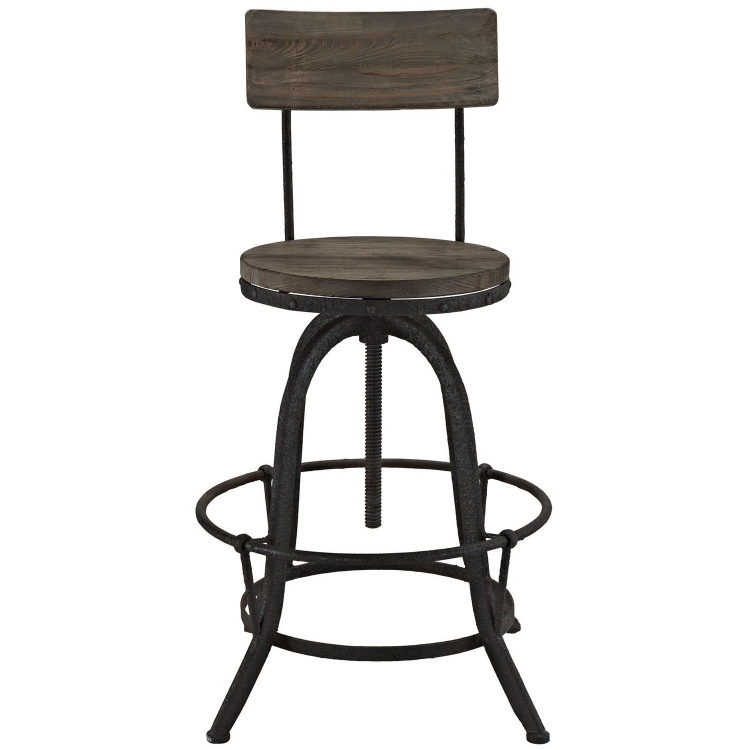Procure Wood Bar Stool - Brown