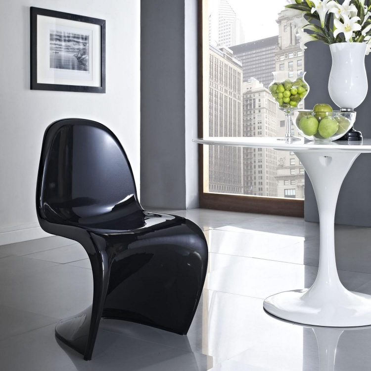 Slither Dining Side Chair - Black