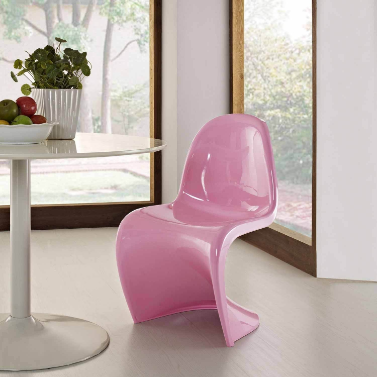 Slither Dining Side Chair - Pink