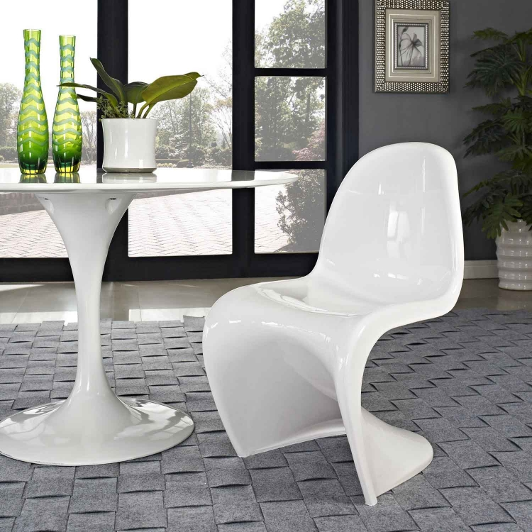 Slither Dining Side Chair - White