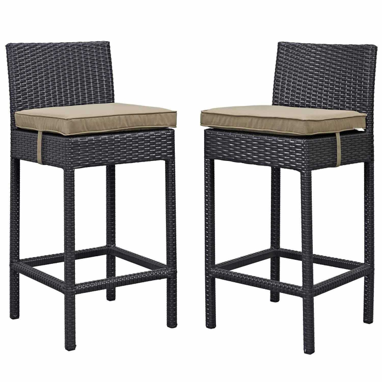 Lift Bar Stool Outdoor Patio Set of 2 - Espresso Brwon