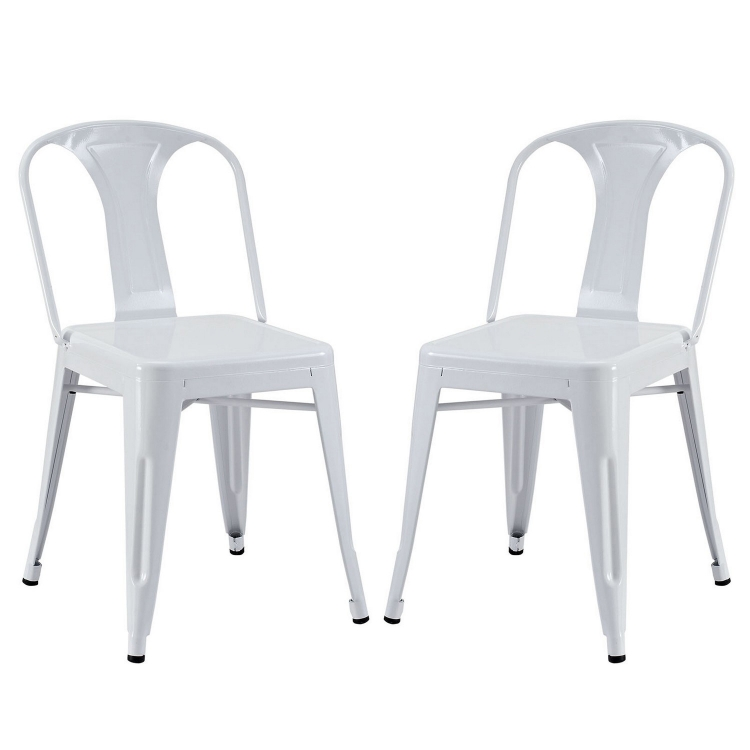 Reception Dining Side Chair Set of 2 - White