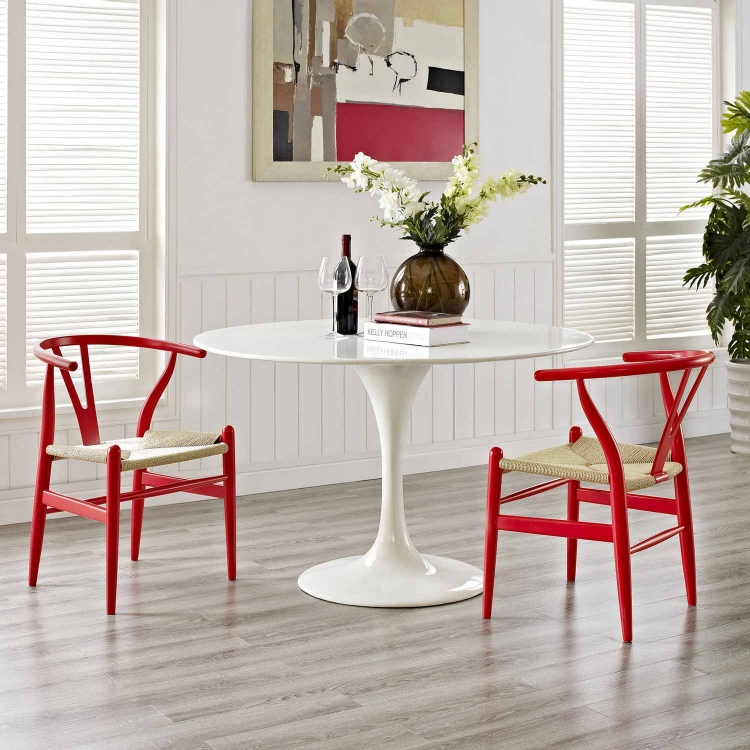 Amish 2PC Dining Armchair Set - Red