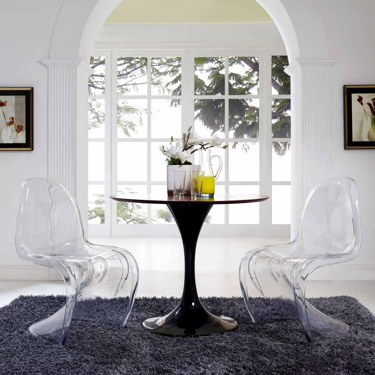 Slither Clear Dining Side Chairs Set of 2 - Clear