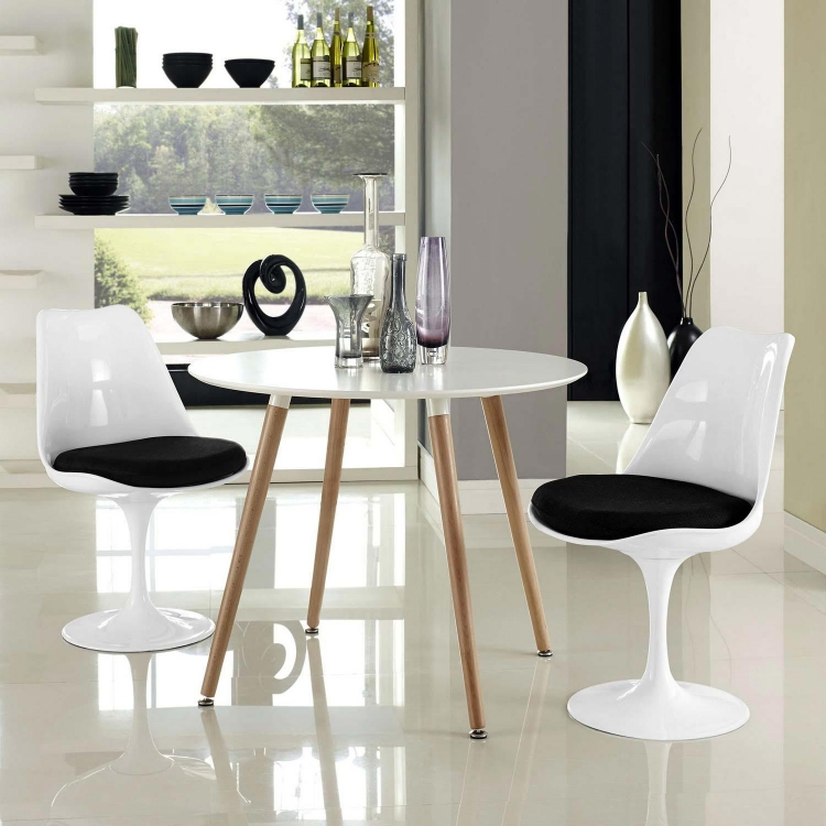 Lippa Dining Side Chair Set of 2 - Black
