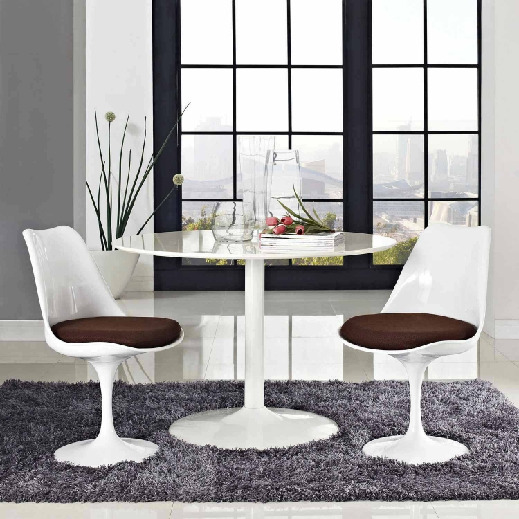 Lippa Dining Side Chair Set of 2 - Brown