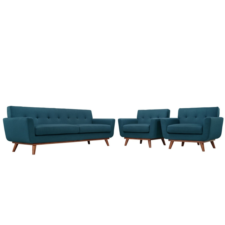 Engage Armchairs and Sofa Set of 3 - Azure