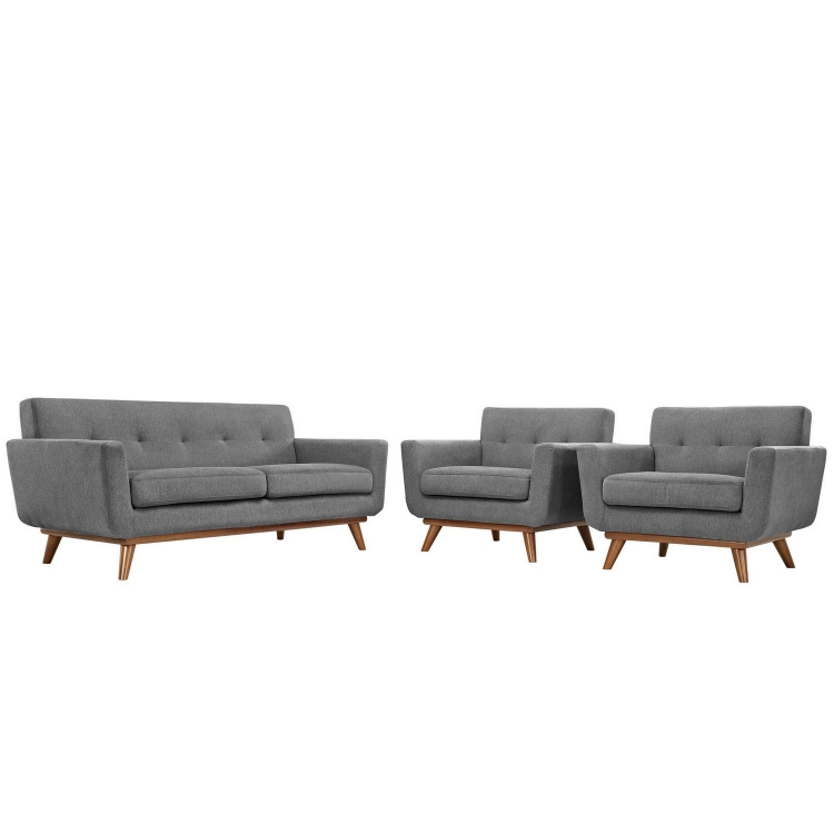 Engage Armchairs and Loveseat Set of 3 - Gray