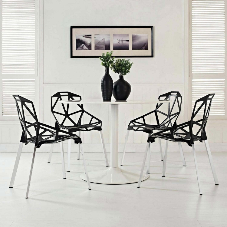 Connections 4PC Dining Chair Set - Black