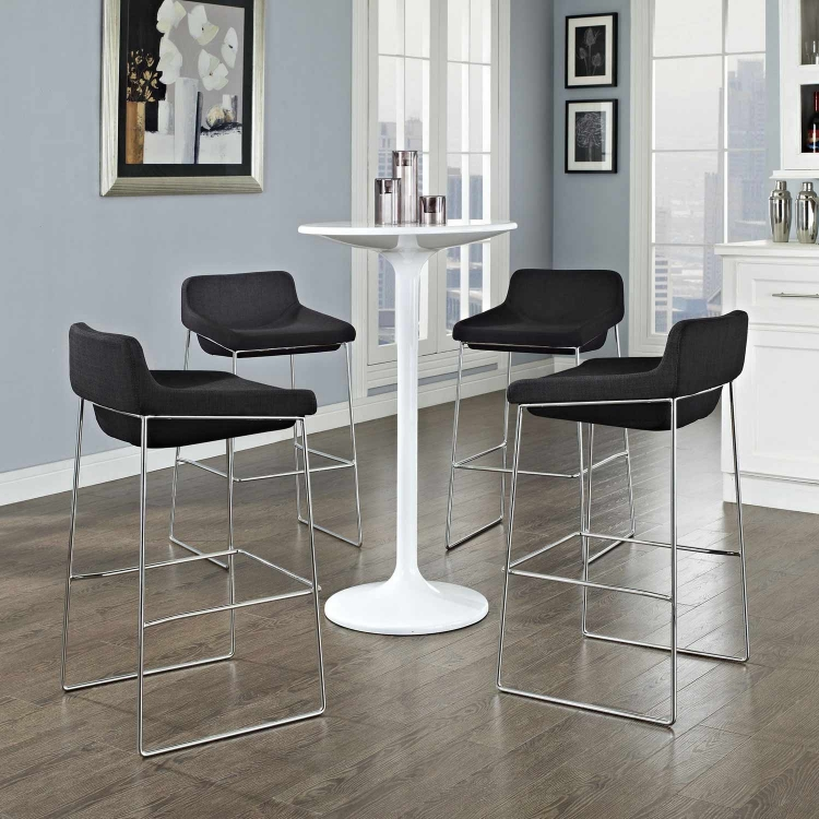 Garner Bar Stool Set of 4 - Black