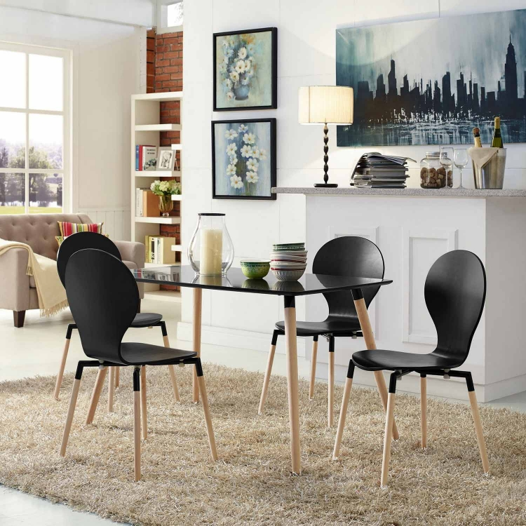Path Dining Chair Set of 4 - Black
