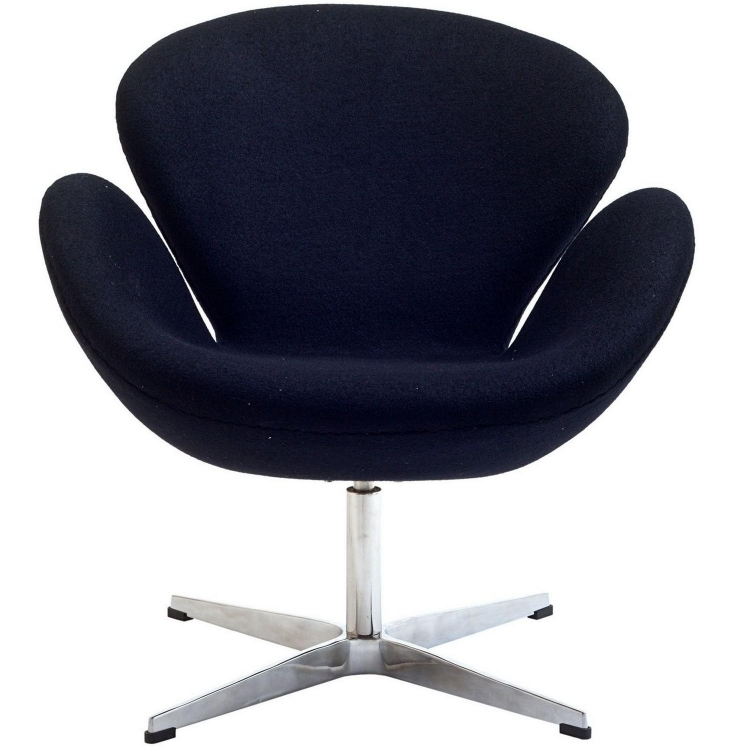 Wing Lounge Chair - Black