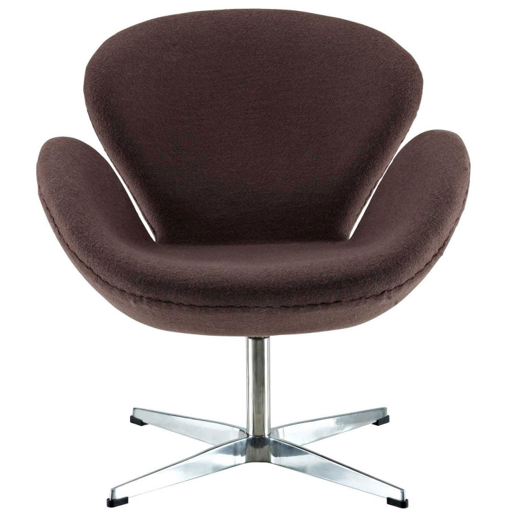 Wing Lounge Chair - Dark Brown