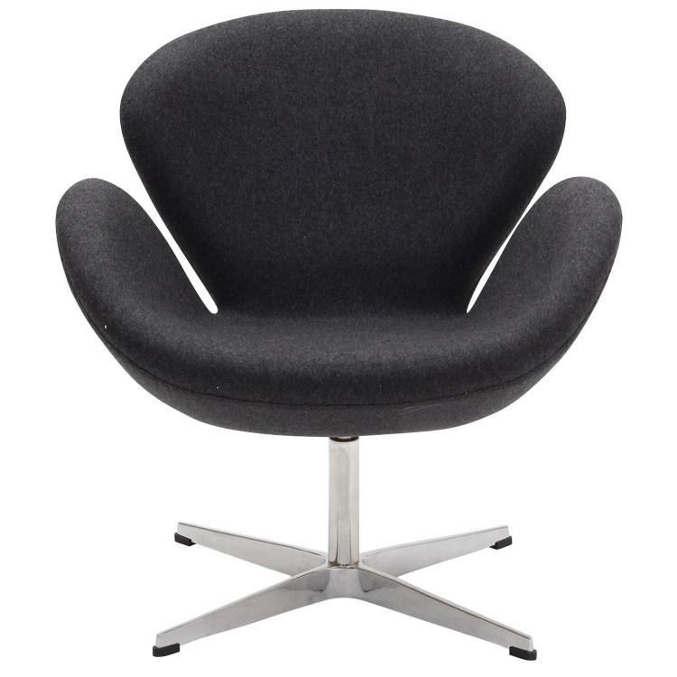 Wing Lounge Chair - Dark Gray