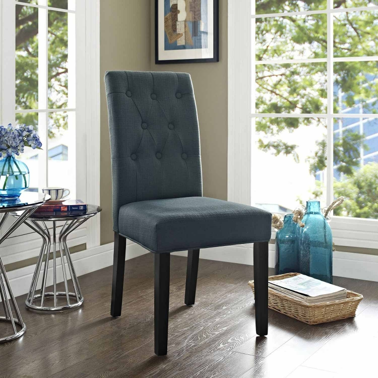 Confer Dining Fabric Side Chair - Gray