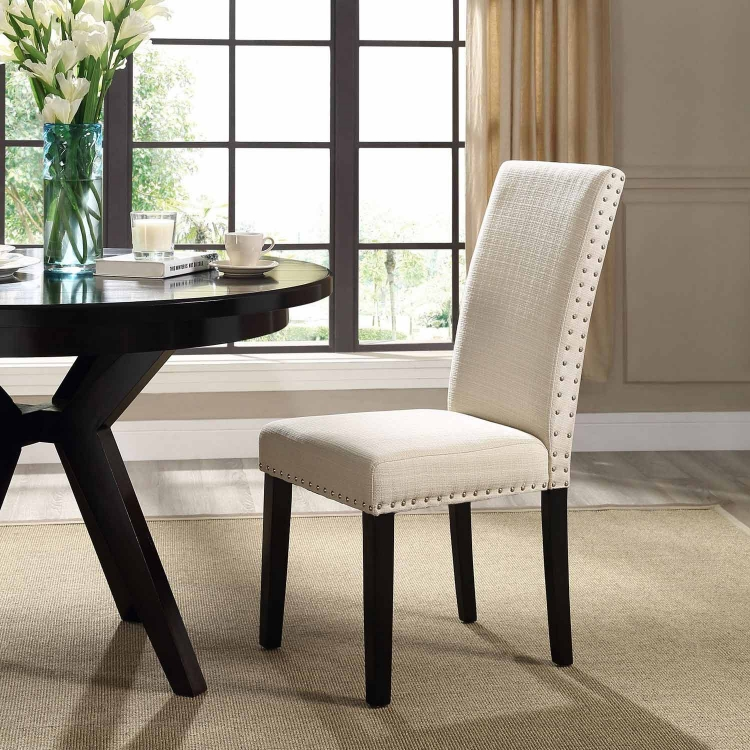 Parcel Dining Fabric Side Chair - Beige
