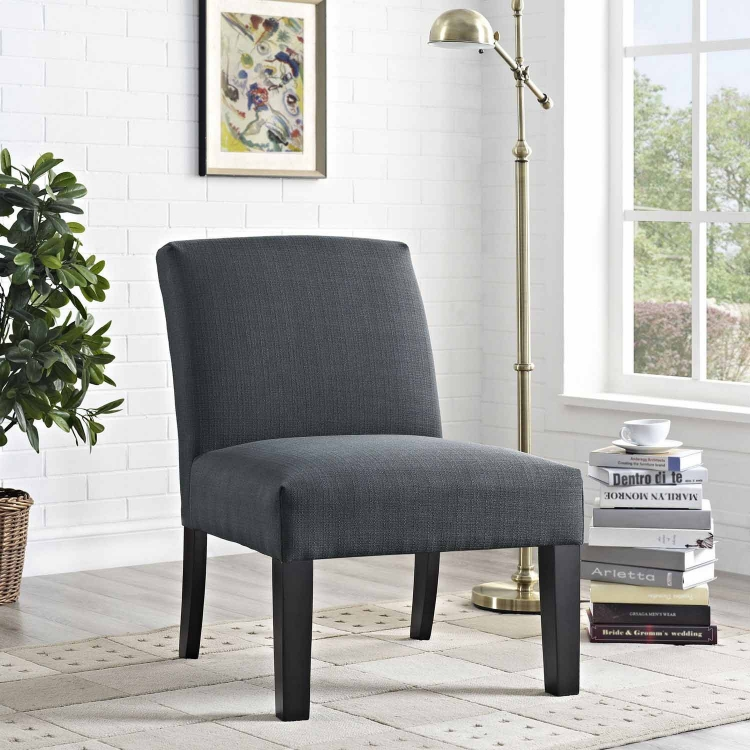 Auteur Fabric Armchair - Gray