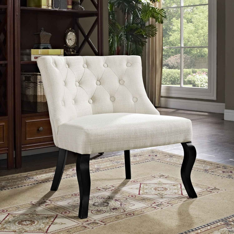 Royal Fabric Armchair - Beige