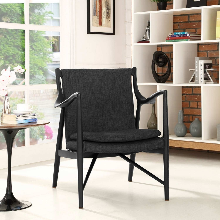 Makeshift Upholstered Lounge Chair - Black/Gray