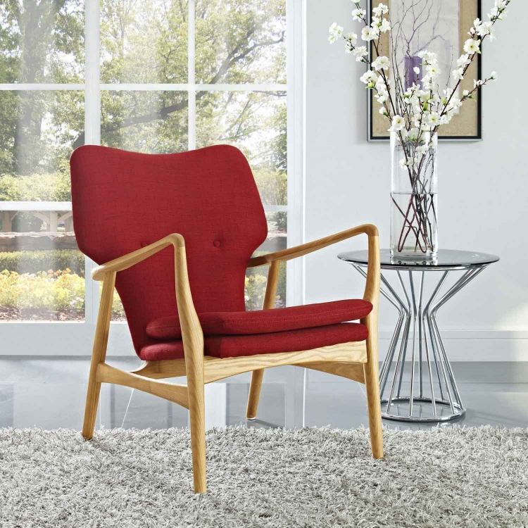Heed Lounge Chair - Birch Red