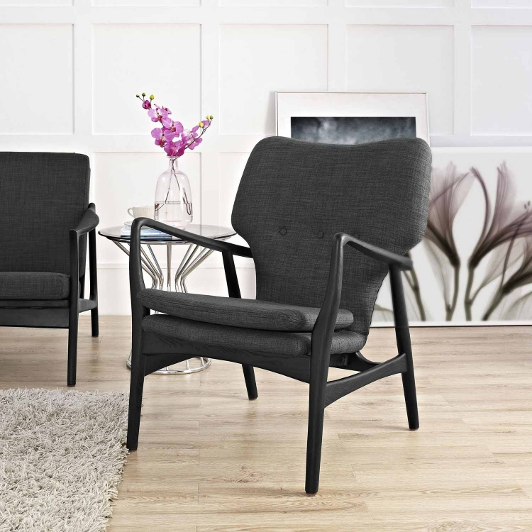 Heed Lounge Chair - Black/Gray