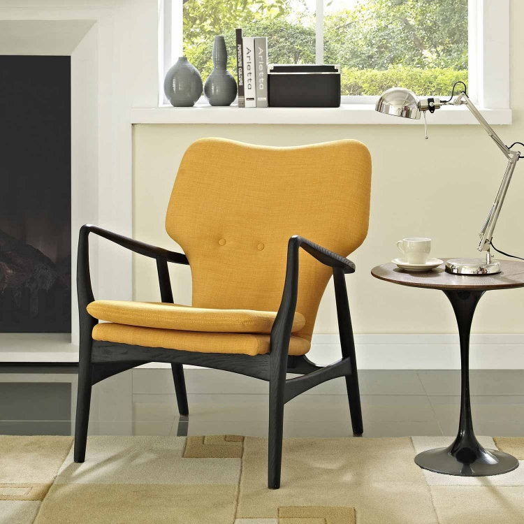 Heed Lounge Chair - Black/Yellow