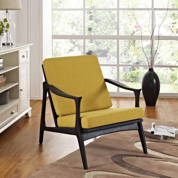 Pace Armchair - Black/Yellow