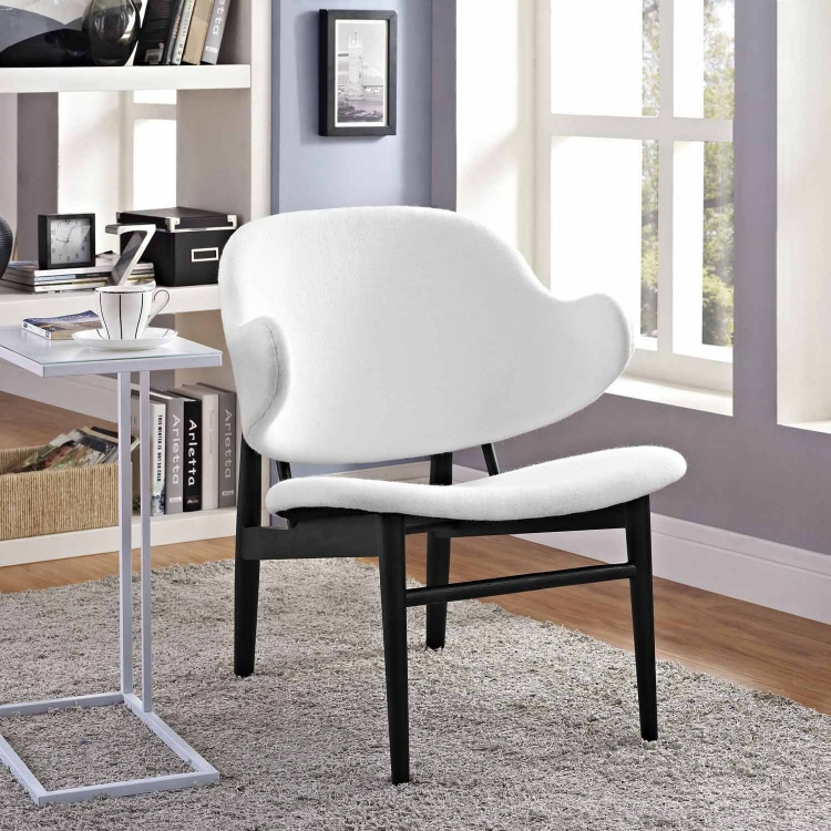 Suffuse Lounge Chair - Black/White