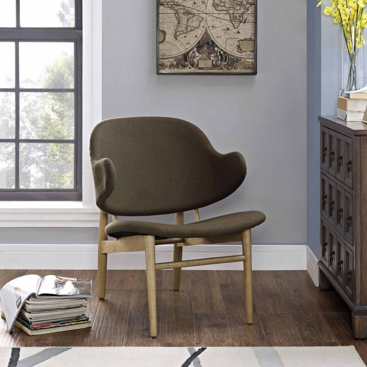 Suffuse Lounge Chair - Natural Brown