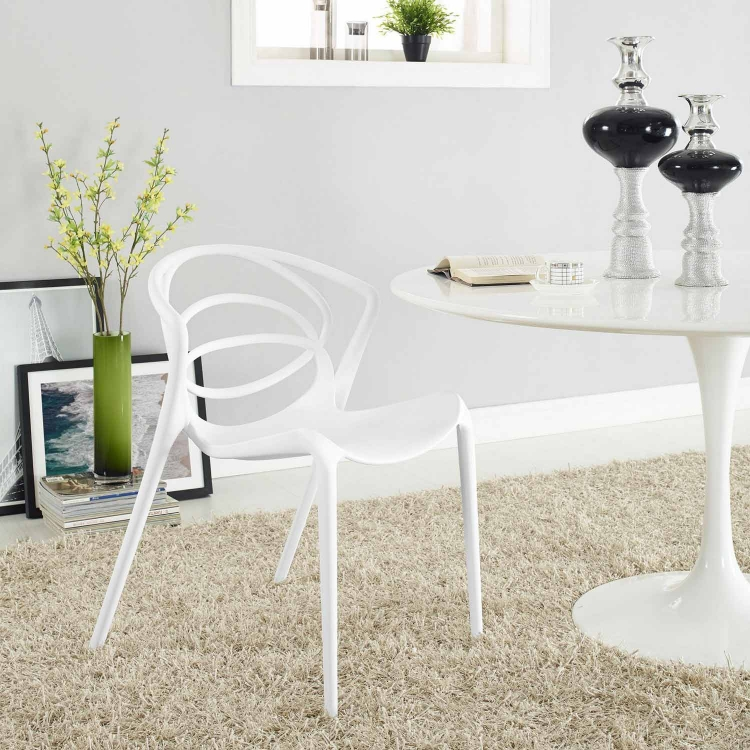 Locus Dining Side Chair - White