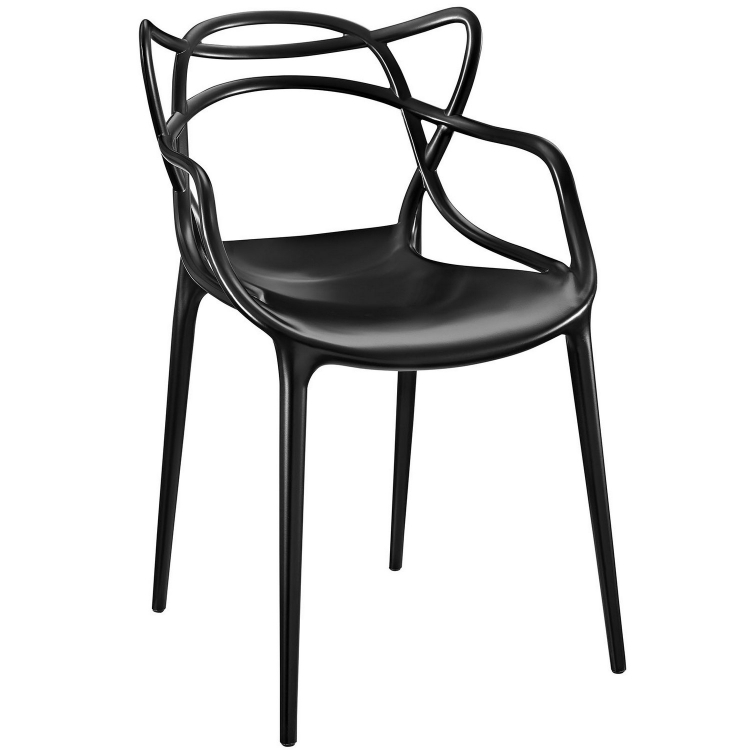 Entangled Dining Arm Chair - Black