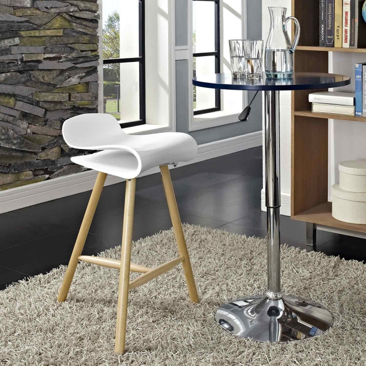 Clip Bar Stool - White