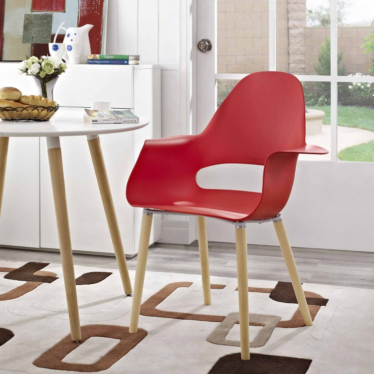 Soar Dining Armchair - Red