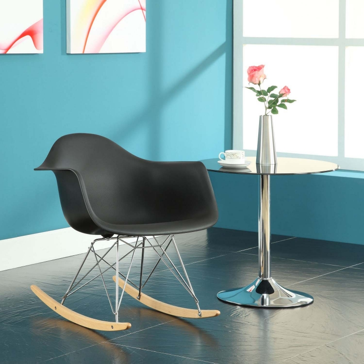 Rocker Lounge Chair - Black