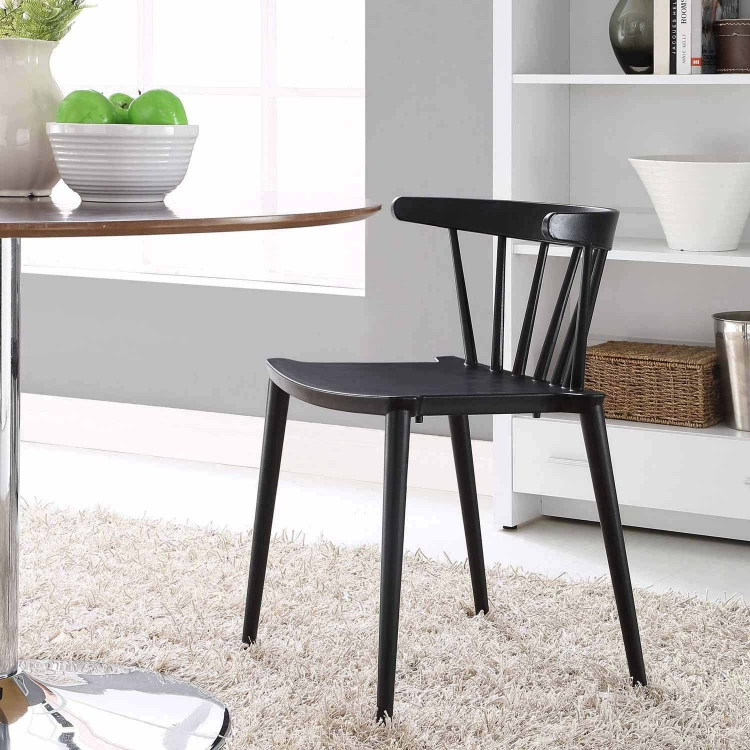 Spindle Dining Side Chair - Black