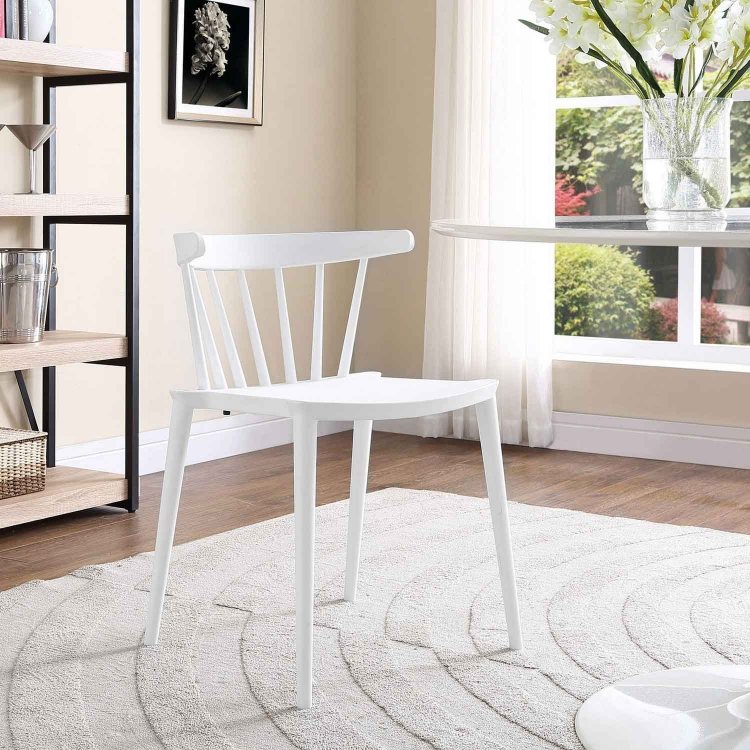 Spindle Dining Side Chair - White