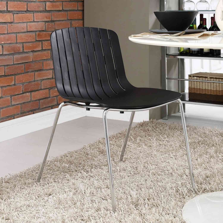 Trace Dining Side Chair - Black
