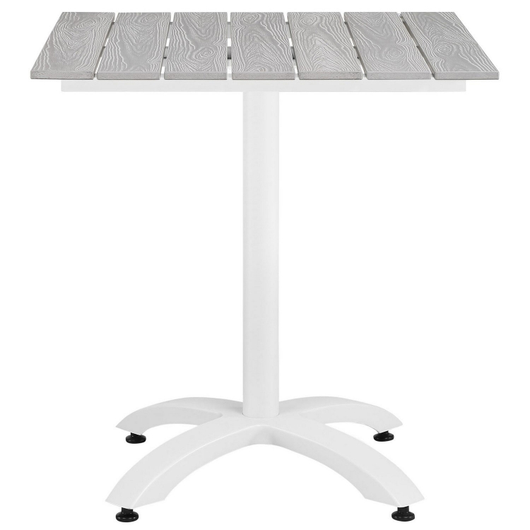 Maine 28 Outdoor Patio Dining Table - White/Light Gray