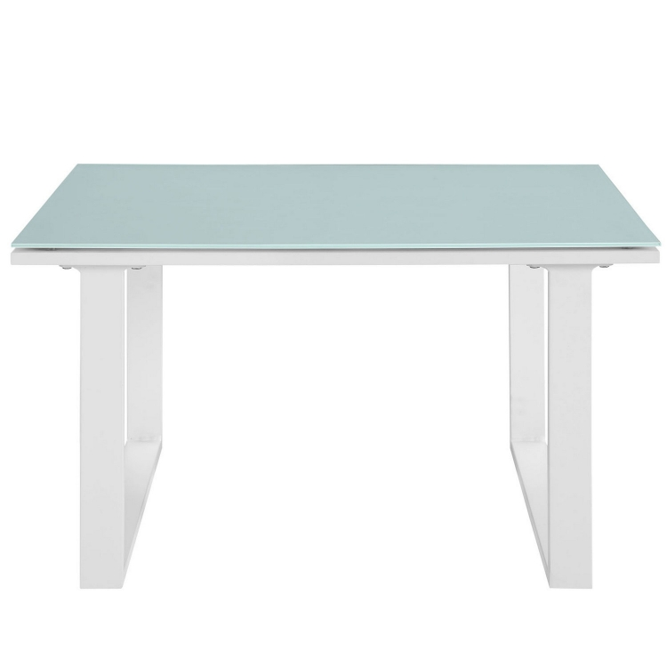 Fortuna Outdoor Patio Side Table - White